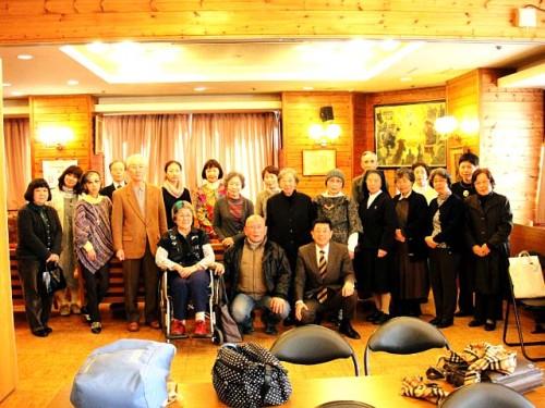 佐々木美代子(福島に移転)さん,故森田和吉(2014年4月26日召天)さんも皆勤でした。 2013年3月15日