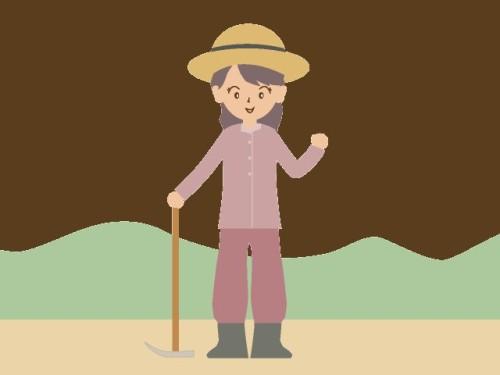 女性農作業イラスト