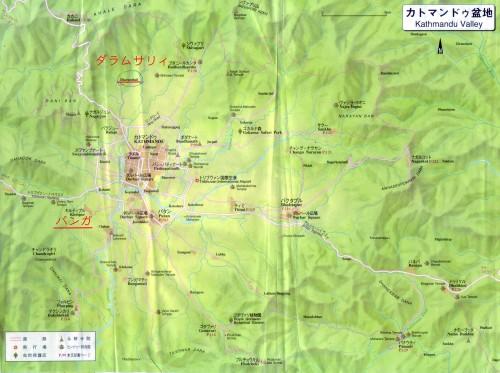 カトマンズ付近地図