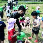 ボランティアと園児c
