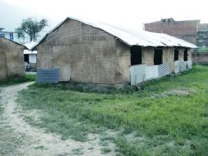 仮設の学校