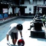ビゼソリ寺院清掃a