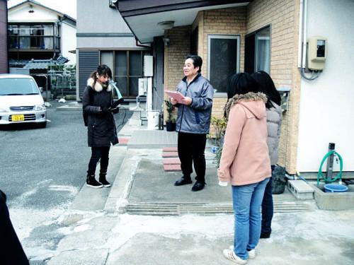 機構の石巻支所阿部捷一支所長から震災当時の語り部に耳を傾けます。