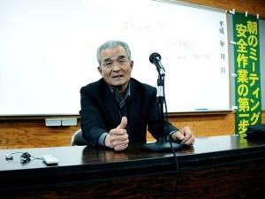 石巻森林組合佐藤健児代表理事組合長による語り部。
