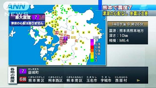 熊本地震マグニチュード7