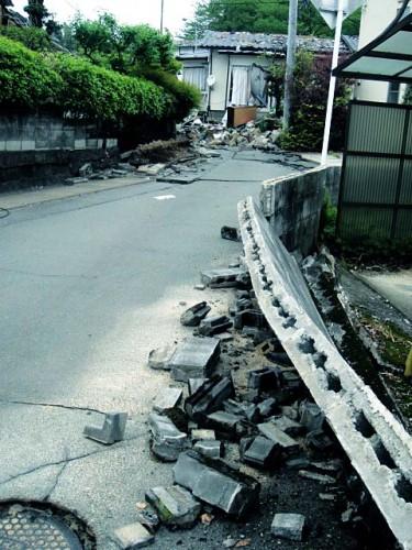 本震後 宮園 2016年4月18日